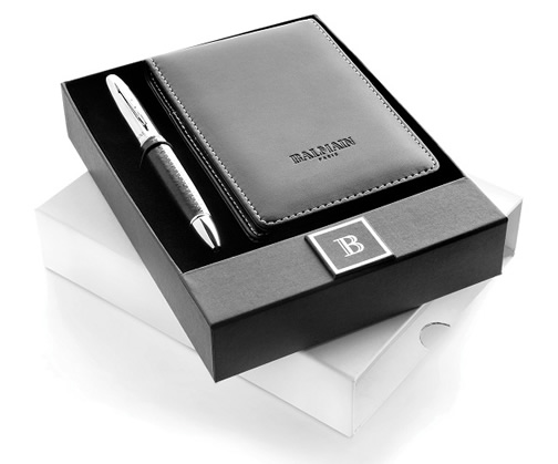 Balmain Pen and Notebook Gift Set