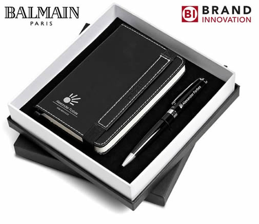 Balmain Chantily Gift Set Notebook and Pen
