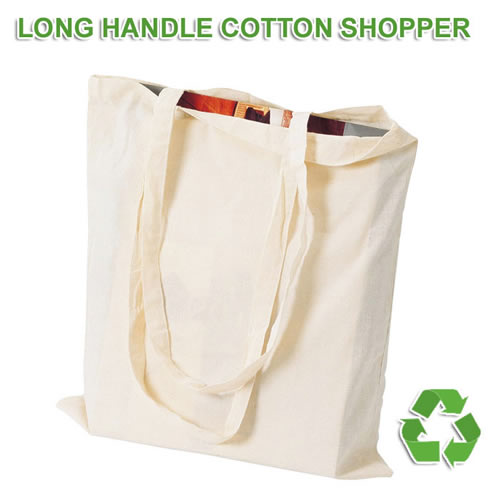 Long Handle Cotton Shopping Bag