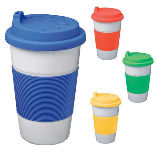 Ceramic Travel Mug With Silicone Lid And Grip Cape Town