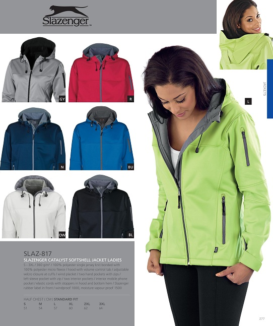 slazenger ladies jackets